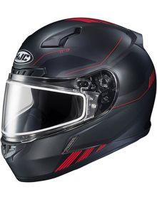 HJC CL-17 Snowmobile Helmet Combat Black/Red