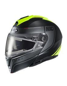 HJC i90 Electric Snowmobile Helmet Davan Black/Hi-Viz