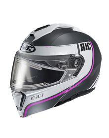 HJC i90 Electric Snowmobile Helmet Davan Pink