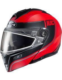 HJC i90 Snowmobile Helmet Davan Red