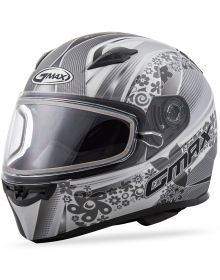 Gmax FF49 Elegance Snow Helmet Flat White/Silver