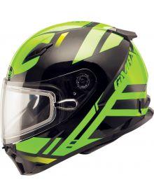 Gmax FF49 Berg Snow Helmet Black/Hi-Vis Green