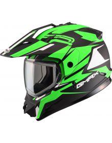Gmax GM11 Vertical Snow Helmet Black/Hi-Vis Green