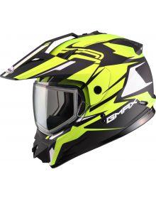 Gmax GM11 Vertical Snow Helmet Black/Hi-Vis