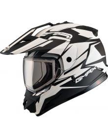 Gmax GM11 Vertical Snow Helmet Flat Black/White