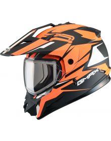 Gmax GM11 Vertical Snow Helmet Flat Black/Hi-Vis Orange