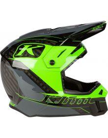 Klim 2021 F3 Carbon Helmet Draft Elictrik Gecko Asphalt
