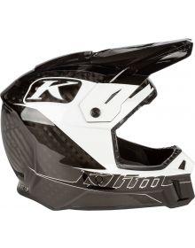 Klim 2021 F3 Carbon Helmet Draft White