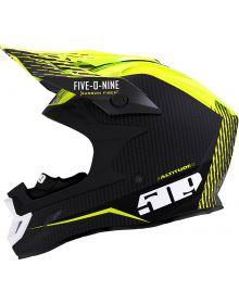 509 Altitude Carbon Fiber Snowmobile Helmet w/Fidlock Off Grid Hi-Vis