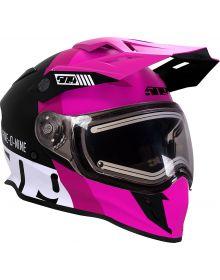 509 Delta R3 2.0 Electric Snowmobile Helmet w/Fidlock Pink 2019