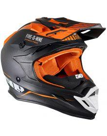 509 Altitude Carbon Fiber 3K Snowmobile Helmet w/Fidlock Particle Orange