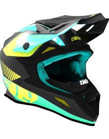 509 Altitude Carbon Fiber Snowmobile Helmet Teal