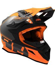 509 Altitude Carbon Fiber R-Series Snowmobile Helmet Orange