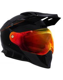 509 Delta R3 2.0 Electric Snowmobile Helmet Black Fire
