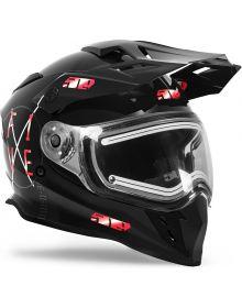 509 Delta R3 2.0 Electric Snowmobile Helmet Red Aura