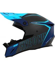 509 Altitude 2.0 Carbon Fiber 3K Snowmobile Helmet Matte Cyan Navy