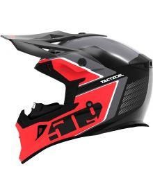 509 Tactical Snowmobile Helmet Dark Ops/Red