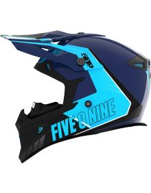 509 Tactical Snowmobile Helmet Cyan Navy