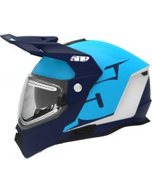 509 Delta R4 Ignite Snowmobile Helmet Matte Cyan/Navy