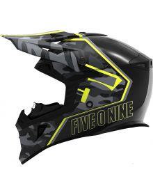 509 Tactical Snowmobile Helmet Black Camo