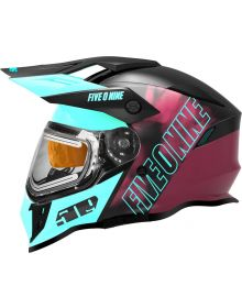 509 Delta R3L Ignite Helmet - Teal Maroon Galaxy