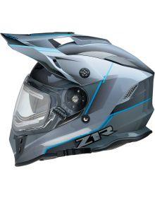 Z1R Range Blade Electric Snow Helmet Gray/Black/Blue