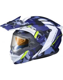 Scorpion EXO-AT950 Electric Snow Helmet Outrigger White/Grey