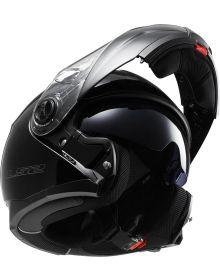 LS2 Helmets Strobe Modular Electric Snow Helmet Matte Black