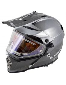 LS2 Pioneer V2 Electric Snowmobile Helmet Gunmetal
