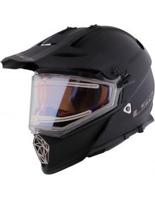 LS2 Pioneer V2 Electric Snowmobile Helmet Matte Black