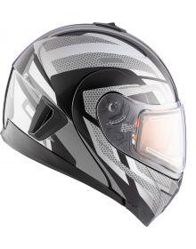 CKX Tranz 1.5 AMS Electric Snowmobile Helmet Warrior Black/Gray