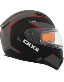 CKX Flex Electric Snowmobile Helmet Control Matte Red