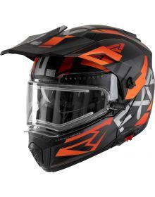 FXR 2022 Maverick X Snowmobile Helmet Black/Orange