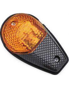 BikeMaster Flush Mount Turn Signals Carbon/Amber