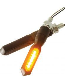 BikeMaster Sequential 7-LED Short Stalk Mount Front Turn Signals