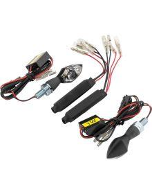 BikeMaster Michrobright LED Stalk Mount Turn Signals Black