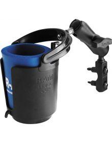 RAM Brake/Clutch Reservoir Mount with Self-Leveling Cup Holder & Koozie