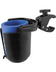 RAM Tough-Claw Mount with Self-Leveling Cup Holder & Koozie