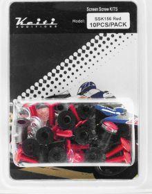 Keiti Windshield Aluminum Bolt Kit Standard Red