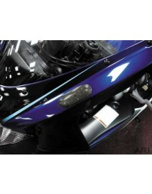 Hotbodies Flush Mount Front Turn Signals Clear Suzuki GSXR