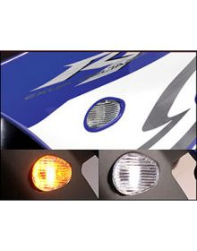 Hotbodies Flush Mount Front Turn Signals Clear Yamaha R6/R1