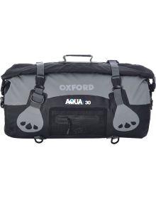 Oxford Aqua T-30 Roll Bag Black/Grey
