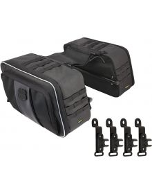 Nelson Rigg Route One Road Trip Saddlebags Black 13 x 5.25 x 8.5