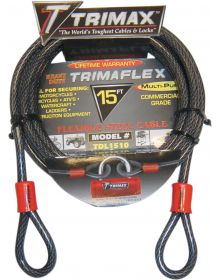 Trimax 10mm Cable 15' Black