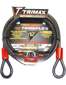 Trimax 10mm Cable 12' Black