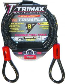 Trimax 10mm Cable 8' Black