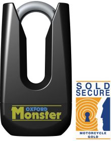 Oxford Monster Ultra Strong Disc Lock Black
