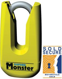 Oxford Monster Ultra Strong Disc Lock Yellow