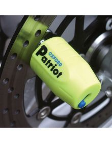 Oxford Patriot Ultra Strong Disc Lock Yellow