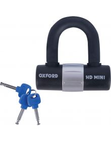 Oxford HD Mini Shackle Lock Black